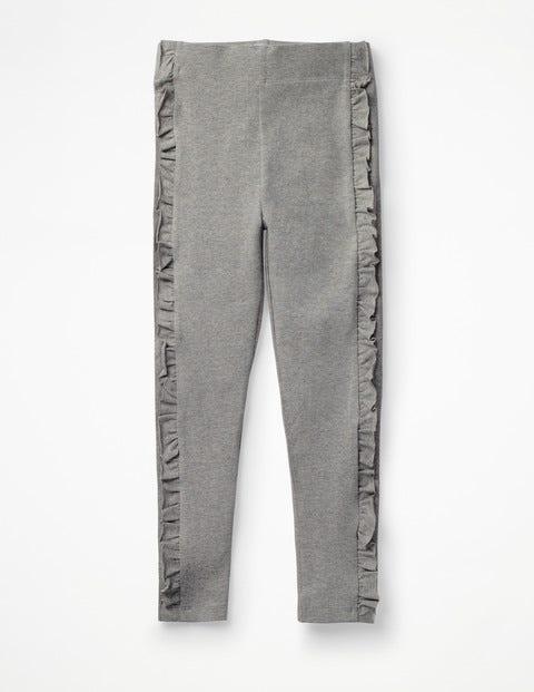 Ruffle Leggings - Grey Marl
