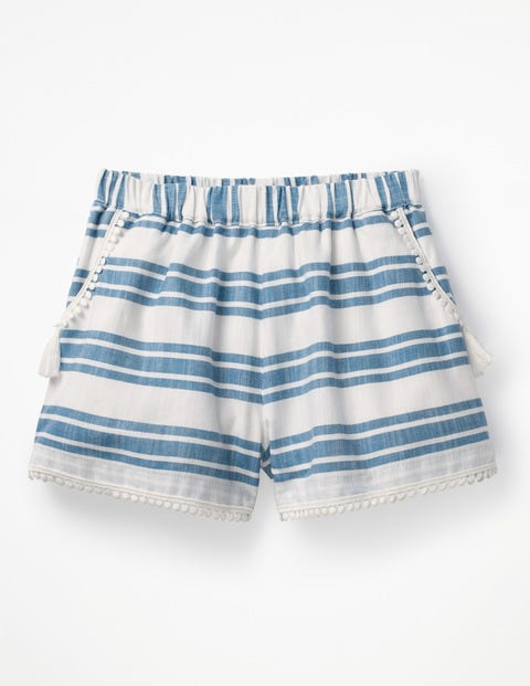 Tassel Detail Shorts - Elizabethan Blue/White Stripe