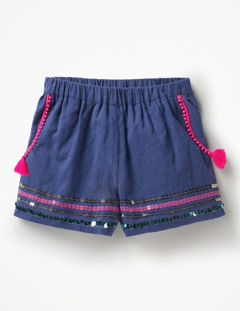 Tassel Detail Shorts - Starboard Blue