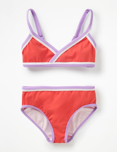 Colourful Bikini Set - Sunset Red