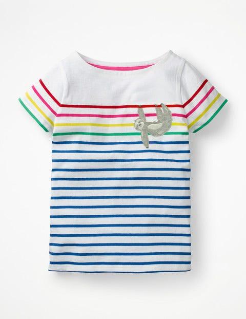 Short-Sleeved Fun Breton - Duke Blue/Rainbow Sloth