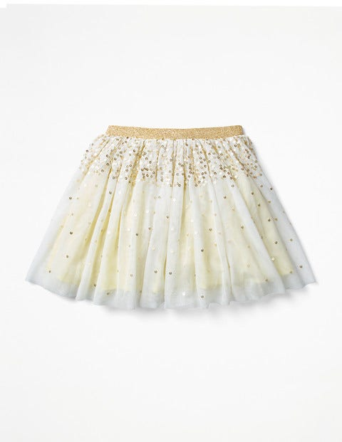 Sparkly Sequin Tulle Skirt - Primrose Yellow