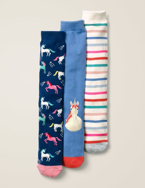 3 Pack Knee-High Socks - Unicorns