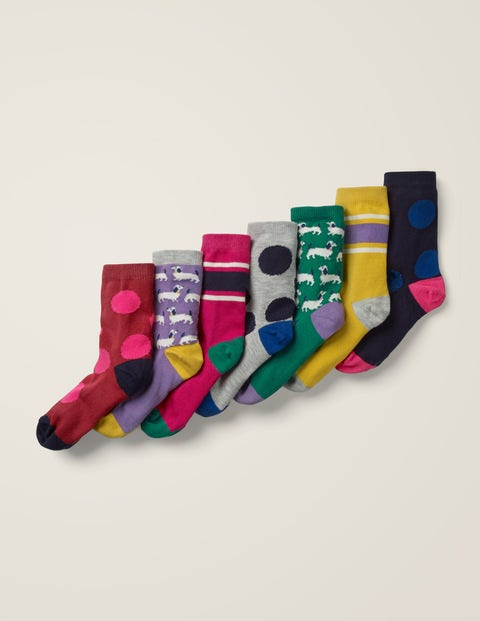 7 Pack Sock Box - Sausage Dogs