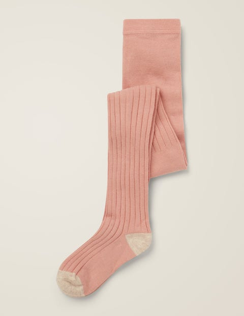 Ribbed Tights - Chalky Pink