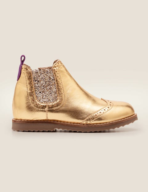 on sale 6af66 804d4 Chelsea-Boots Aus Leder - Gold-Metallic | Boden DE