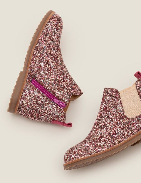Leather Chelsea Boots - Multi Glitter