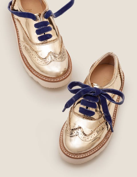 Brogues - Pale Gold