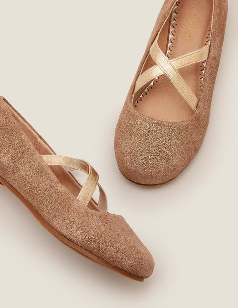 Party Ballet Flats - Gold Metallic