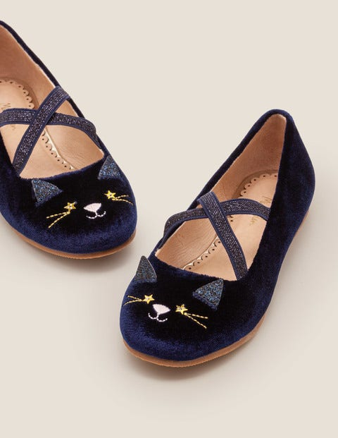 Party Ballet Flats - Midnight Blue