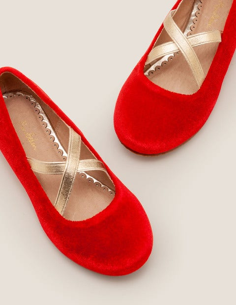 Party Ballet Flats - Rockabilly Red