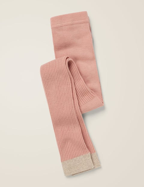 Ribbed Footless Tights - Provence Dusty Pink