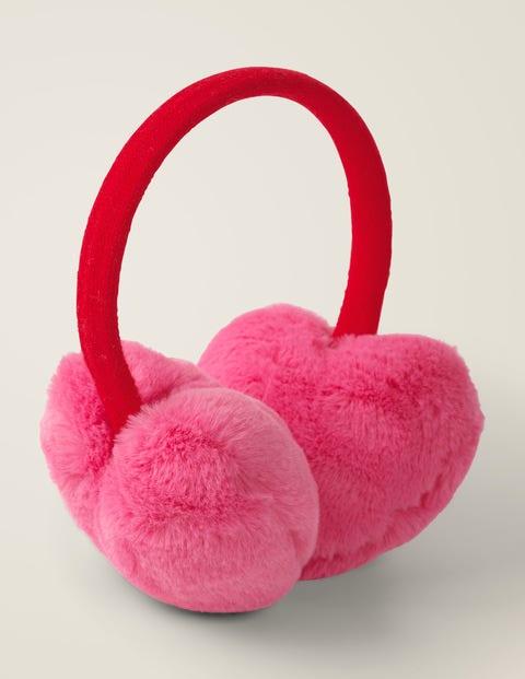 Cosy Faux Fur Ear Muffs - Festival Pink
