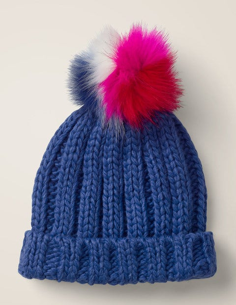 Chunky Knitted Hat - Howlin Blue
