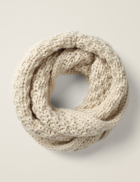 Chunky Knitted Snood - Ecru Marl