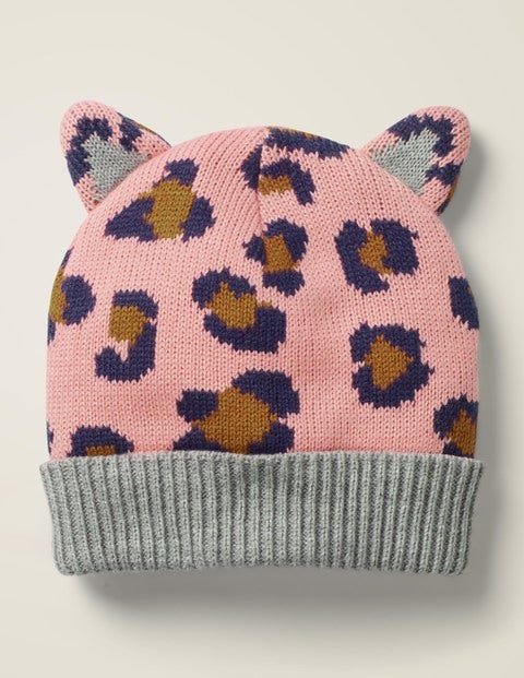 Leopard Hat - Chalky Pink Leopard