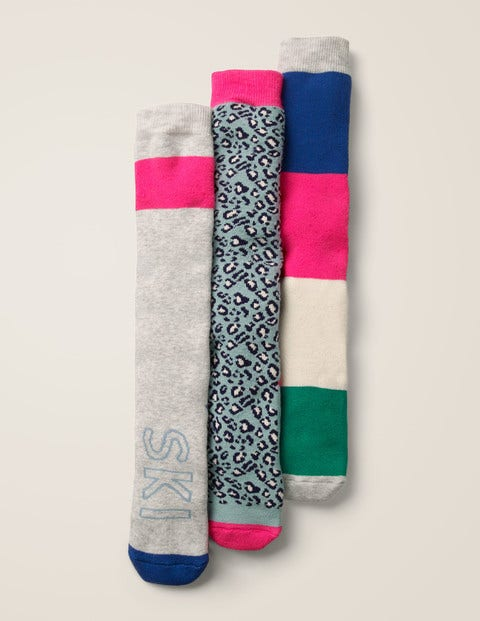 3 Pack Ski Socks - Multi