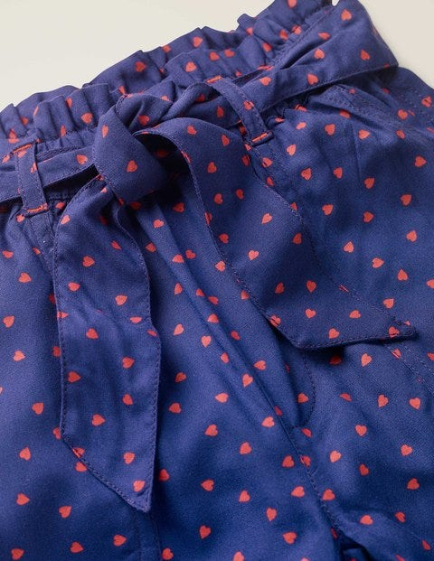 Tie-Waist Pants - Starboard Blue Sweet Hearts