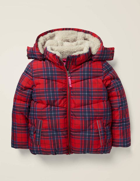 Cosy Padded Jacket - Rockabilly Red Check