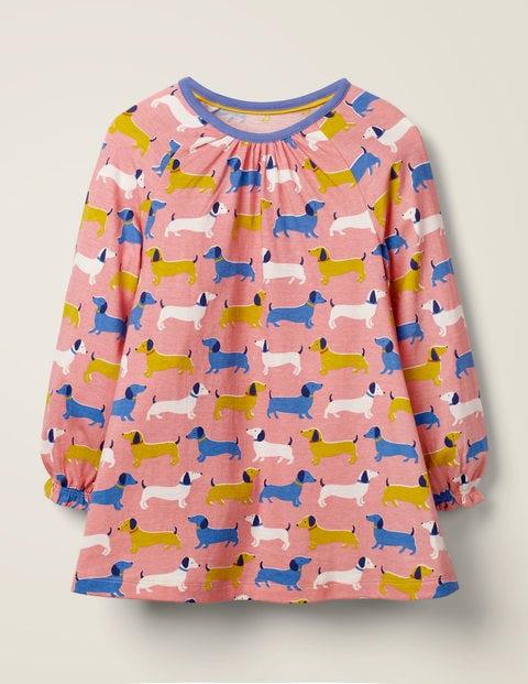 Printed Tunic - Pink Sausage Dogs