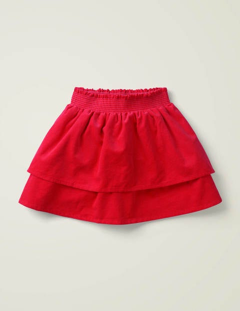 Smocked Woven Skirt - Rockabilly Red
