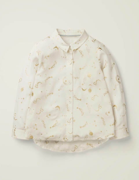 Fun Shirt - Ivory/Gold Foil Celestial