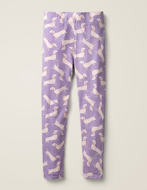 Fun Leggings - Aster Purple Sausage Dogs