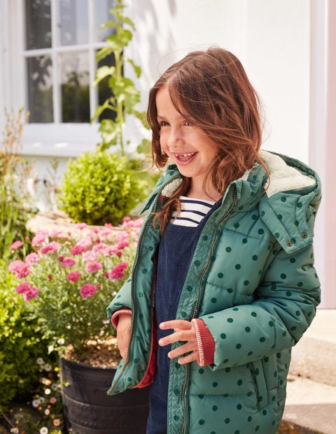 Cosy 2-In-1 Padded Jacket - Camp Green Flock Spot