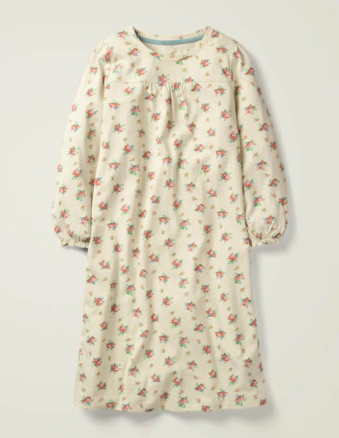 Printed Nightgown - Ivory Vintage Posy