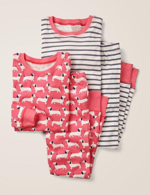 Twin Pack Long John Pyjamas