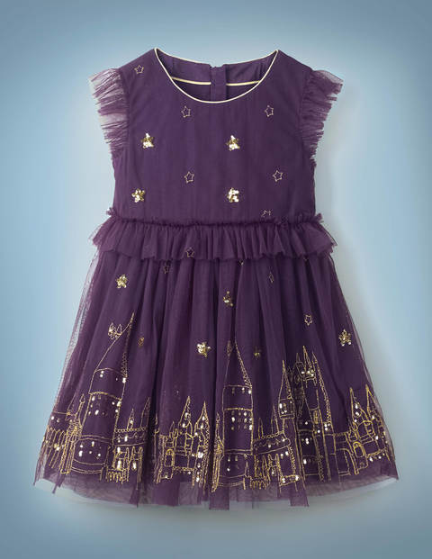 Hogwarts Enchanted Tulle Dress - Plum Jam Purple