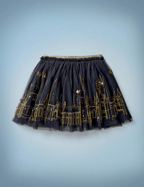 Hogwarts Embroidered Skirt - Midnight Blue