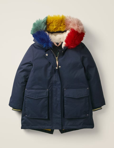 Cosy Waterproof Coat - Navy