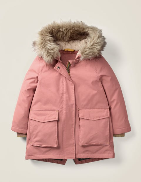 Cosy Waterproof Coat - Dusky Rose Pink