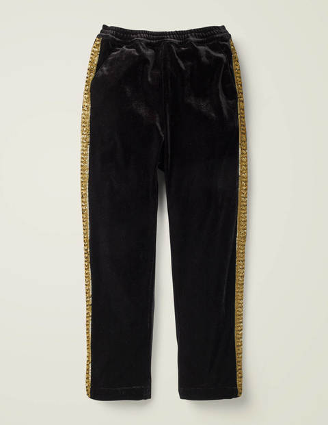 Sparkle Stripe Velvet Trousers