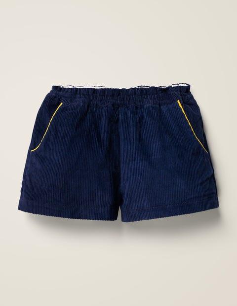Chunky Cord Shorts - Navy