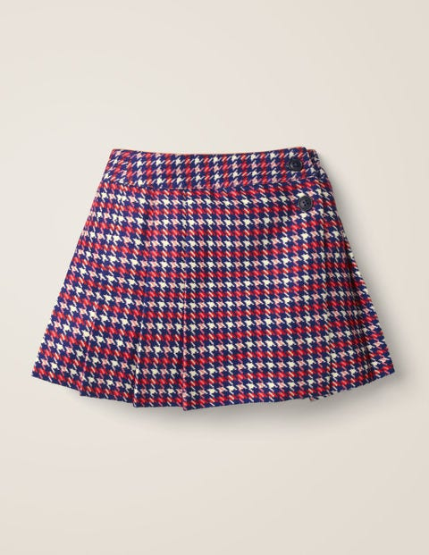 Wonderful Wool Kilt - College Blue/Red Check