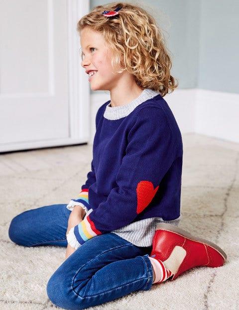 Crochet Heart Patch Jumper