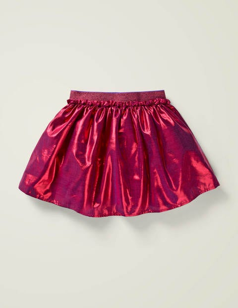 Metallic Party Skirt - Pink Yarrow Metallic