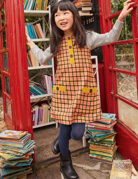 Retro Check Pinafore - Mellow Yellow Check