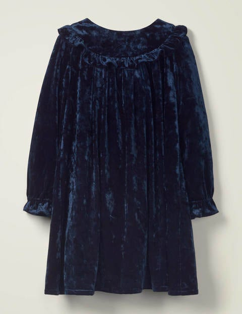 Velvet Party Dress - Navy