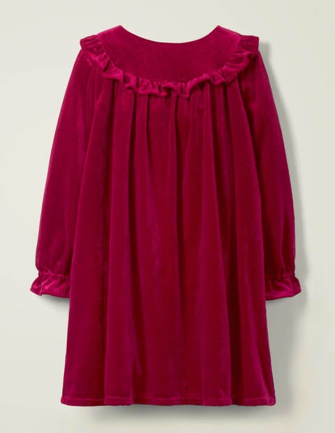 Velvet Party Dress - Rose Apple Red