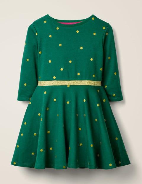 Spotty Skater Dress - Linden Green Spot