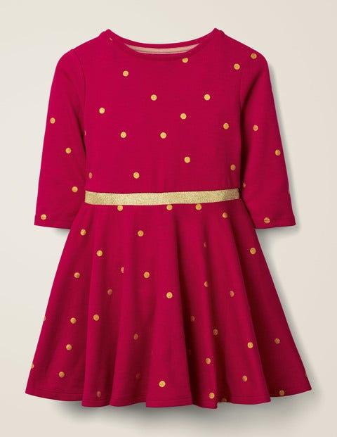 Spotty Skater Dress - Rose Apple Red Spot