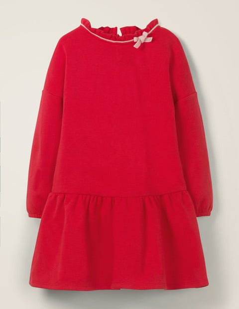 Cosy Bow Dress - Rockabilly Red