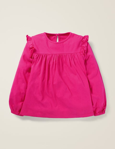 Floaty Ruffle Top - Pink Yarrow