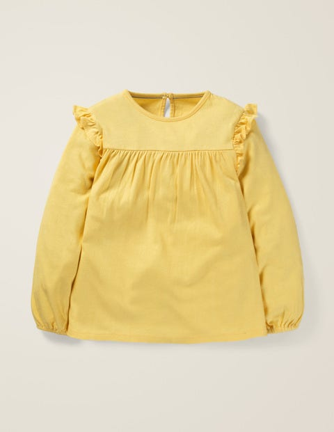 Floaty Ruffle Top - Spicy Mustard Yellow