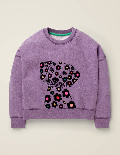Flocked Animal Sweatshirt