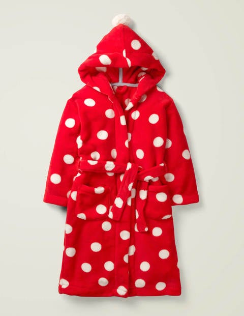 Cosy Dressing Gown - Carmine Red Spot