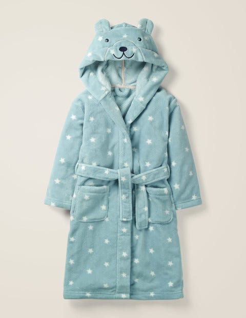 Novelty Dressing Gown - Cloudburst Blue Stars Bear